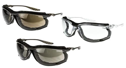 Crossfire 24Seven Foam Lined Safety Eyewear, Anti-Fog Lens- Clear, Smoke or HD Brown, Box/12