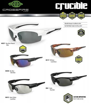 CrossFire Crucible Premium Safety Eyewear, 5 Styles Available