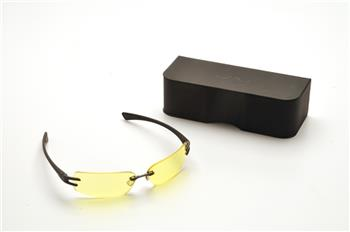 Pyramex DV30 Safety Glasses, DV30 Eyewear Black Frame/Yellow Tinted Lens, Anti-Reflection Coating, Qty: 1 Pair