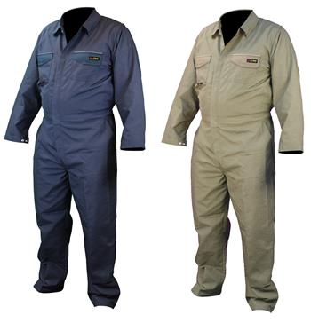 Radians FRCA-001 VolCore Cotton/Nylon FR Coverall, ATPV 8.9 Cal, NFPA 2112, 70E PPE CAT 2, Navy Or Khaki