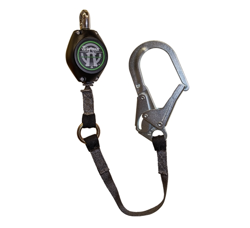 SafeWaze FS-FSP1409-W-RBH Single Leg 9' Web Retractable with Steel Locking Rebar Hook