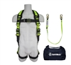 SafeWaze FS126 Fall Protection Kit with Pass Thru Buckles on Legs, 6' Shock Lanyard in a Bag