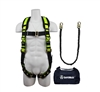 SafeWaze FS133 Fall Protection Kit with Tangle Free Grommet Leg Harness, 6' Tubular Lanyard in a Bag