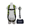 SafeWaze FS143 PRO Grommet Leg Harness, 6′ Class A Web SRL Fall Protection Kit with Carrying Bag