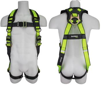 SafeWaze FS280 Pro No Tangle Harness, Back D-Ring, Pass Thru Legs & Chest Buckles