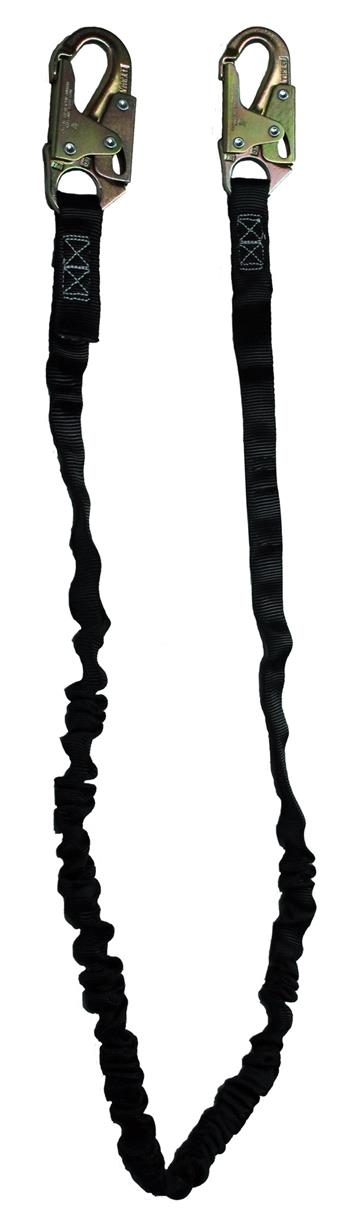 SafeWaze FS580 Tubular / Low Profile 6' Lanyard Energy Absorbing and Snap Hooks