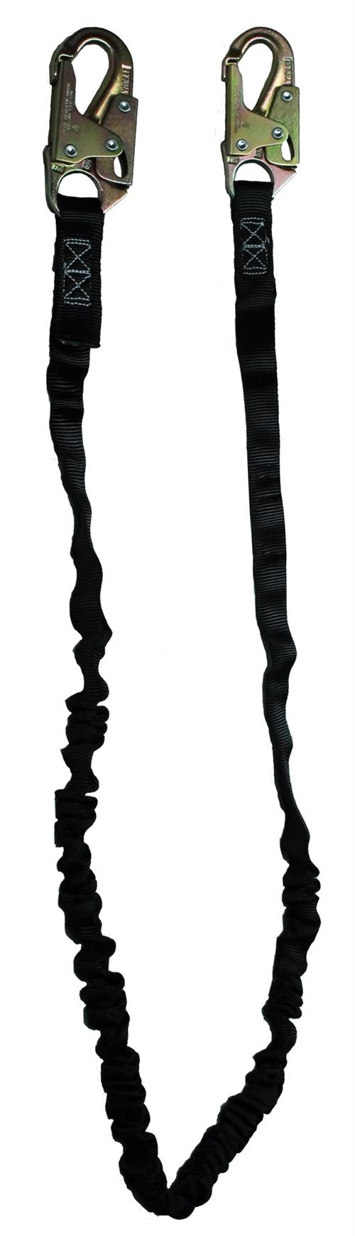 SafeWaze FS580 Series Tubular / Low Profile Lanyards, Snap or Rebar Hook and Single or Dual Leg Options