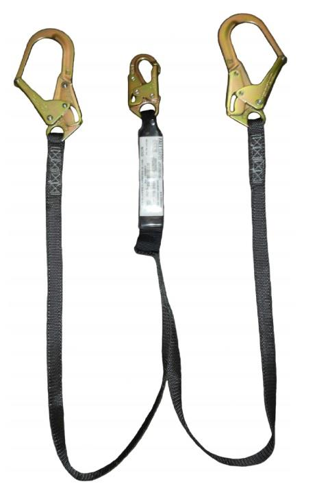 SafeWaze FS88666-HW FSP Extreme 6' Heavyweight Shock Absorbing Dual Leg Lanyard with Rebar Hooks & Snap Hook, Big Boy 400 lb Rated