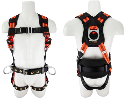 SafeWaze FS99160-E V-Line Construction Harness with Side D-Rings and Floating Waist Belt