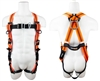 SafeWaze FS99185-EFD V-Line Universal Harness, Front & Back D-Rings, Grommet Leg Straps, Mating Buckle Chest