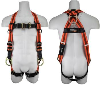 SafeWaze FS99281-EFD  V-Line Harness with 4 D-Rings: Front D-Ring, Back D-Ring, Side D-Rings