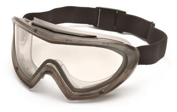 Pyramex G504DT Goggles, Capstone Gray Direct/Indirect Goggle with Clear Anti-Fog Dual Lens, Qty: Box/12 prs
