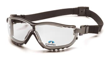 Pyramex GB1810STR15 Safety Glasses, V2G Readers Eyewear +1.5 Clear Lens with Black Strap/Temples, Qty: Box/12 prs