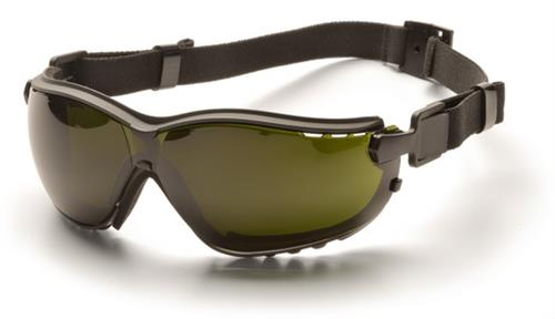 Pyramex GB1850SFT Safety Glasses, V2G Eyewear 5.0 IR Filter Lens with Black Strap/Temples, Qty: Box/12 prs