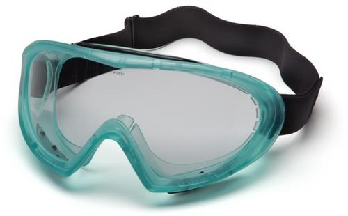 Pyramex GC504T Goggles, Capstone Green Direct/Indirect Goggle with Clear Anti-Fog Lens, Qty: Box/12 prs