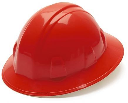 Pyramex HP24120 Red Full Brim Style 4 Point Ratchet Suspension Hard Hat, Qty: Box/12