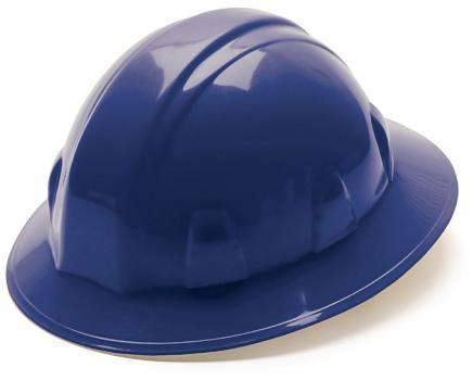 Pyramex HP24160 Blue Full Brim Style 4 Point Ratchet Suspension Hard Hat, Qty: Box/12