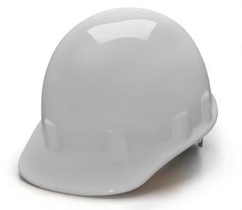 Pyramex HPS14110 White Cap Style 4 Point Ratchet Sleek Shell Hard Hat, Qty: Box/12