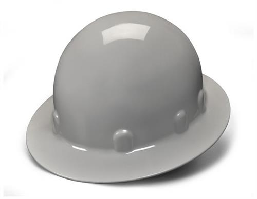 Pyramex HPS24112 Gray Full Brim 4 Point Ratchet Sleek Shell Hard Hat, Qty: Box/12