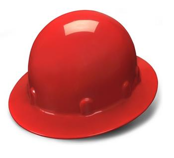Pyramex HPS24120 Red Full Brim 4 Point Ratchet Sleek Shell Hard Hat, Qty: Box/12