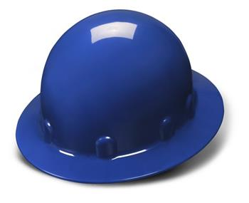 Pyramex HPS24160 Blue Full Brim 4 Point Ratchet Sleek Shell Hard Hat, Qty: Box/12
