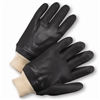 "West Chester J1007RF Black PVC Coated, 12"" Length Sandpaper Grip, Knit Wrist, Jersey Lined Gloves"