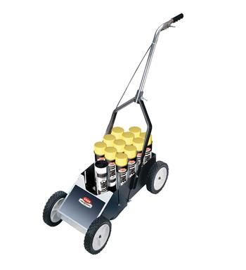 Krylon K08350 Athletic Field Striping Machine, Single Can, 10 inch Wheels