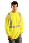 OccuNomix LUX-LST2/FR Classic Flame Resistant Long Sleeve T-Shirt, ASTM F1506, NFPA 70E  HRC 2