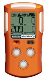 Gas Clip Technologies MGC 4-Gas Monitor, Multi Gas Clip with Infrared Combustible Sensor (4 Gas/H2S, CO, O2 & LEL)