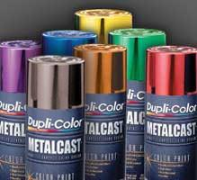 Dupli-Color Metalcast Anodized Automotive Paint, 11 oz. Aerosol, Choice of Colors, Case/ 6 Cans