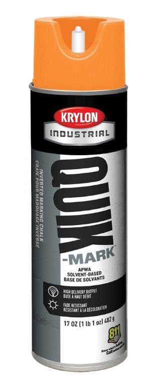 Krylon Industrial Quik-Mark Inverted Marking Chalks Solvent-Based, Case/12 Cans
