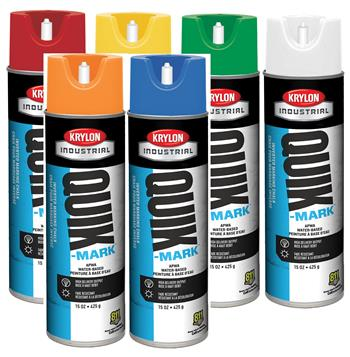 Krylon Industrial Quik-Mark Inverted Marking Chalks Water Based, Case/ 12 Cans