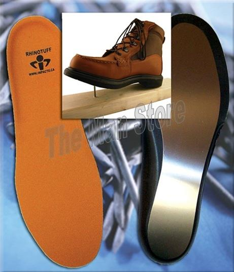 IMPACTO RHINOTUFF Puncture Resistant Insoles, Flexible Stainless Steel Plate, Meets ASTM F2413