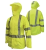 Radians RW12L Ladies Lightweight Ripstop Rain Jacket, Waterproof Class 3, Hi Vis Lime Green