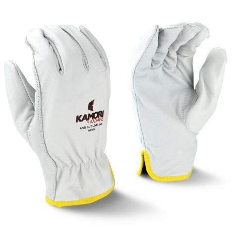 Radians RWG52 Kamori Cut Resistant Goatskin Work Gloves, Cut Level A4, Aramid Lining, Box/12 Pairs