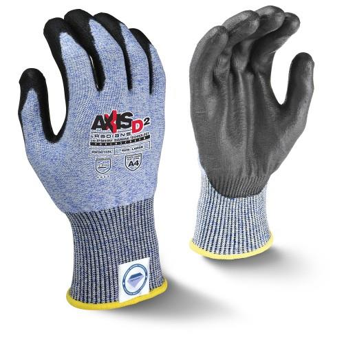 Radians RWGD104 AXIS D2™ Cut Level A4 Touchscreen Work Glove, Dyneema® Diamond Technology, 13 Gauge Shell, PU Palm Coated, Box/12 Pairs