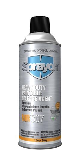 Sprayon MR307 Heavy-Duty Paintable Release Agent S00307000, Aerosol 12 Oz Cans, Case/12