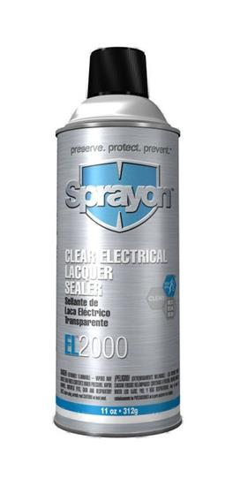 Sprayon S02000000 Clear Electrical Lacquer Sealer EL2000 Aerosol 11 Oz. Cans, Case/12