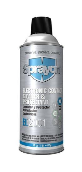 Sprayon S02001000 Electronic Contact Cleaner & Protectant EL2001 Aerosol 16 oz. Cans, Case/12