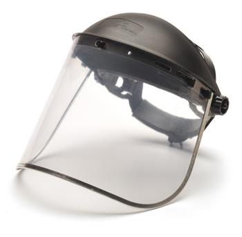 Pyramex Safety Products S1040 Clear-Aluminum Bound PC Faceshield, Qty: Box/35