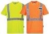 Portwest S190 Hi Vis Class 2 Short Sleeve Pocket T-Shirt,  Wicking, Hi Vis Yellow or Hi Vis Orange