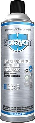 Sprayon S02084600 EL2846 Non-Chlorinated Electrical Degreaser - Aerosol, 20 oz Cans, Case / 12