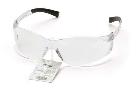 Pyramex S2510SRT Safety Glasses, Ztek Eyewear Clear Lens with Clear Frame and Retail Tag, Qty: Box/12 prs