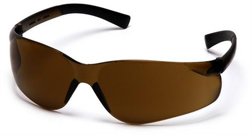 Pyramex S2515S Safety Glasses, Ztek Eyewear Coffee Lens with Coffee Frame, Qty: Box/12 prs