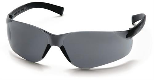 Pyramex S2520SN Safety Glasses, Mini Ztek Eyewear Gray Lens with Gray Frame, Qty: Box/12 prs
