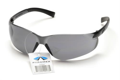 Pyramex S2520SRT Safety Glasses, Ztek Eyewear Gray Lens with Gray Frame and Retail Tag, Qty: Box/12 prs
