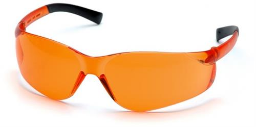 Pyramex S2540S Safety Glasses, Ztek Eyewear Orange Lens with Orange Frame, Qty: Box/12 prs