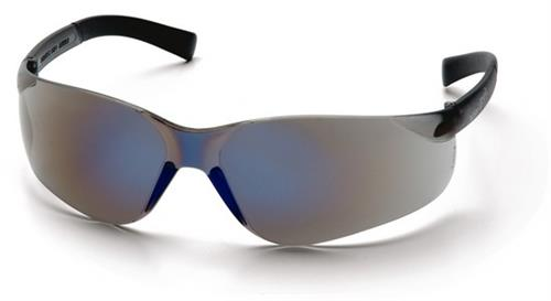 Pyramex S2575SN Safety Glasses, Mini Ztek Eyewear Blue Mirror Lens with Blue Mirror Frame, Qty: Box/12 prs