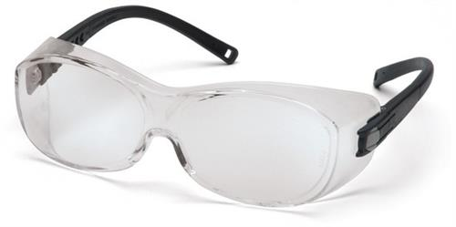 Pyramex S3510SJ Safety Glasses, OTS Eyewear Clear Lens with Black Temples, Qty: Box/12 prs