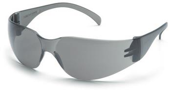 Pyramex S4120S Safety Glasses, Intruder Eyewear Gray Lens with Gray Frame, Qty: Box/12 prs